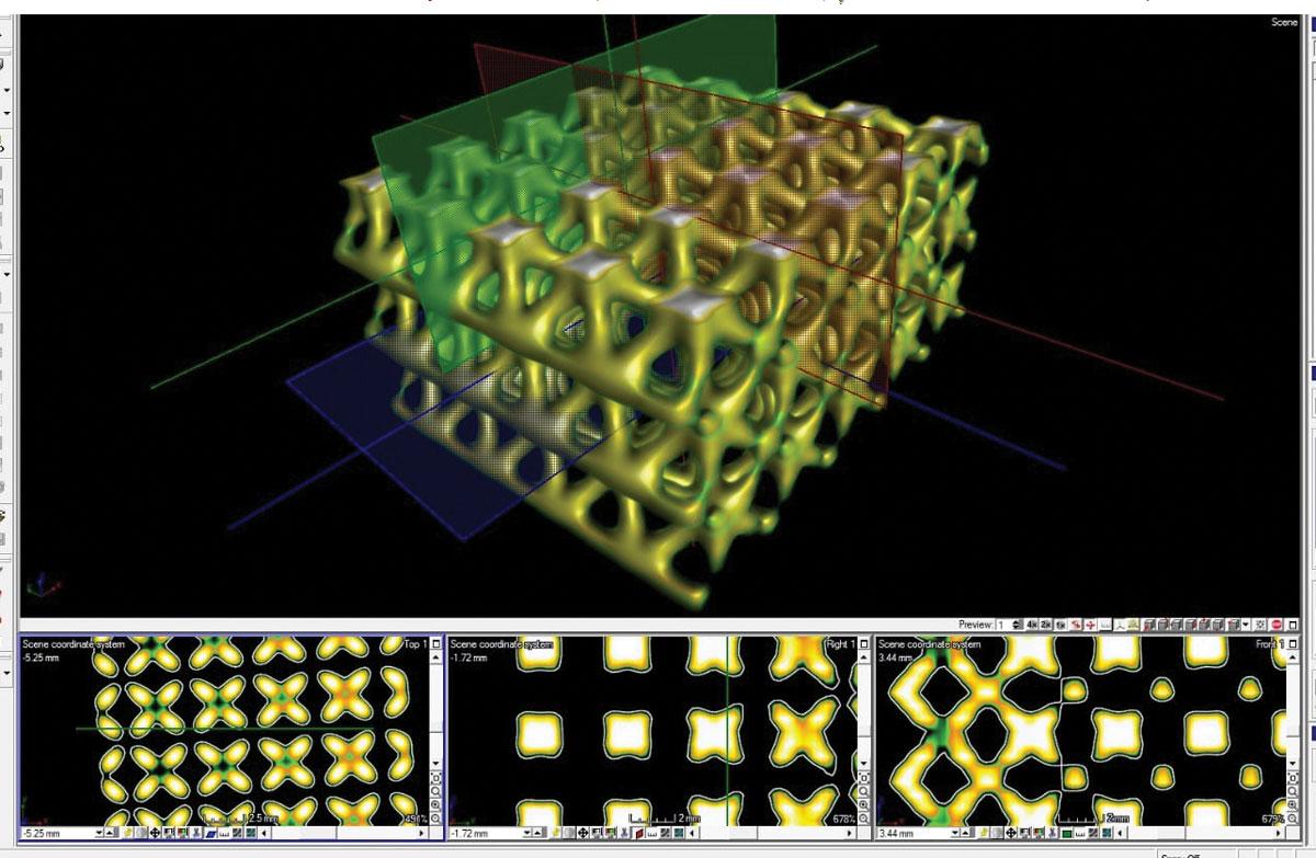 Scansione con Tomografia Computerizzata di campione con reticoli