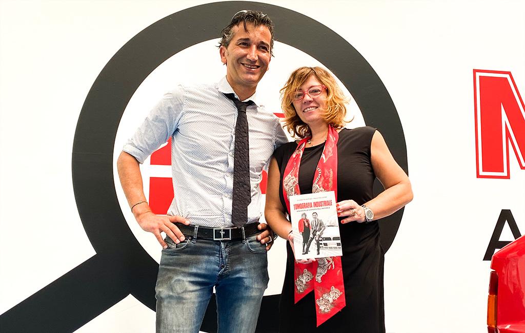 Elisabetta Ruffino e Paolo Pollacino con il nuovo libro Tomografia Industriale
