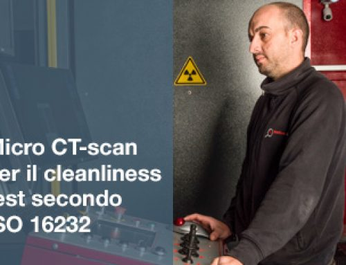 Micro CT-scan per il cleanliness test secondo ISO 16232