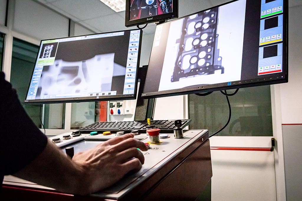 Tomografia Industriale Computerizzata 3D: monitor
